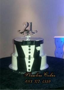 buttercream tux cake