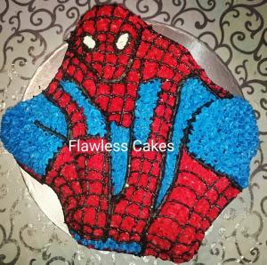 tahir 2D spiderman cake