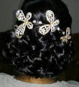 Nikita Hair Wedding Day