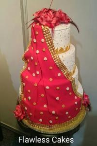 4 tier draped cake